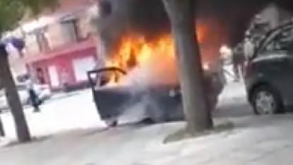 viedma, incendio, auto