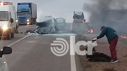 chichinales, accidente fatal