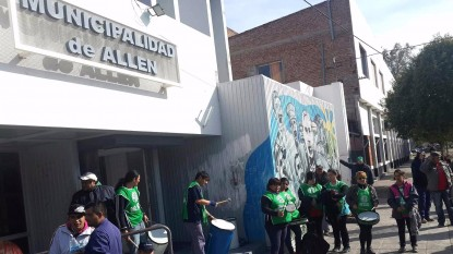 aguiar ATE protesta, municipalidad allen