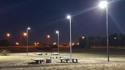 viedma, luminarias, parque ferreira