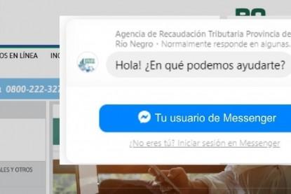 agencia de recaudacion tributaria, messenger, chat