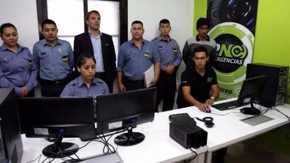 Gastón Pérez Estevan, policia, centro monitoreo