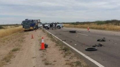ruta 22, accidente fatal, motociclista