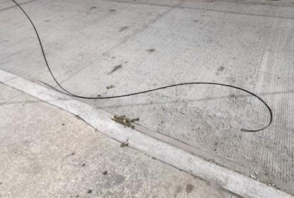 cable provoca accidente