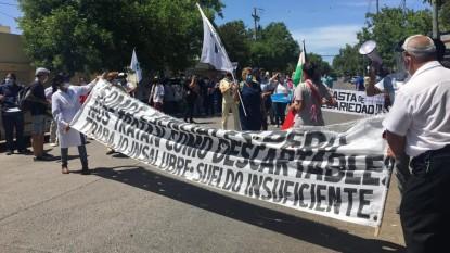 personal de salud, marcha, movilizacion, manifestacion