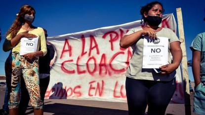 barrio norte, VECINOS, planta elevadora, liquidos cloacales, PROTESTA, manifestacion