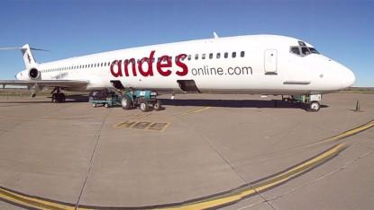 aerolinea andes, avión