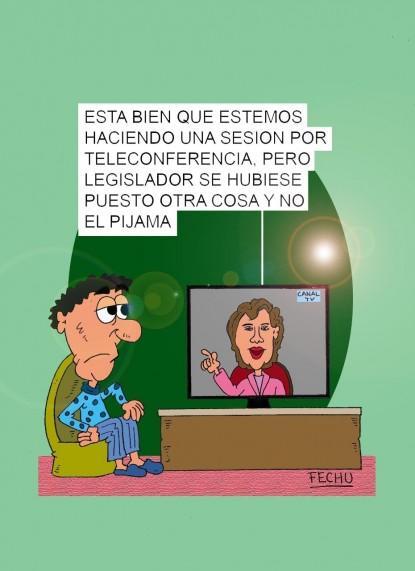 señales de humor, videoconferencia