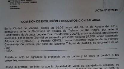 acta, paritaria judicial