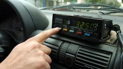 taxi, reloj