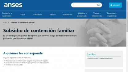 SUBSIDIO DE CONTENCION FAMILIAR