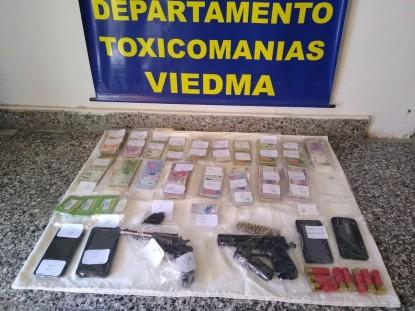 viedma, drogas, ARMAS, secuestro