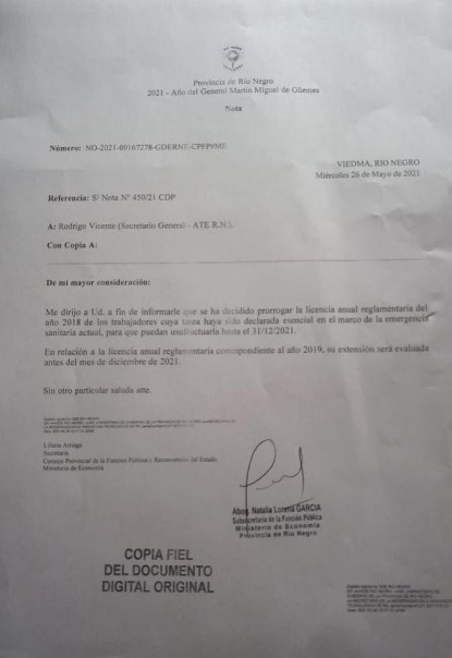 licencias anuales ordinarias