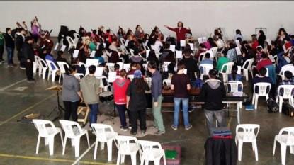 orquesta ensayo