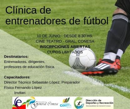 futbol, general conesa, clinica, entrenadores