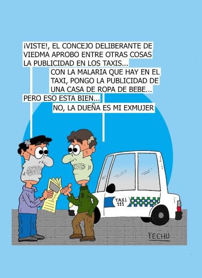 publicidad, humor, taxis