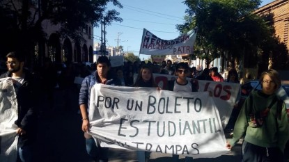 marcha, boleto estudiantil, colectivos