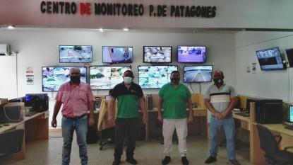 SANDRO PINO, JOSÉ FLORES, Adrián Vilca, marcos madarieta, centro de monitoreo, PATAGONES