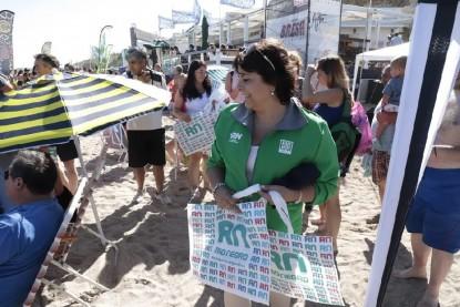 martha velez, dina migani, medio ambiente, Las Grutas, Bolsas Biodegradables