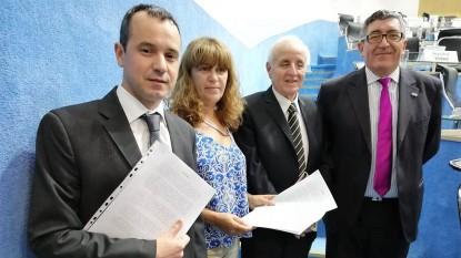 Nicolás Rochás, daniela agostino, jorge ocampos, alejandro marinao