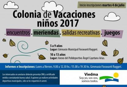colonia de vacaciones 2017