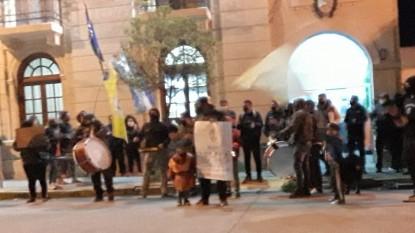 PATAGONES, policia, reclamo, PROTESTA