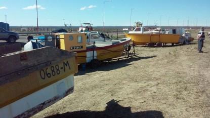 barcos pesqueros, protesta puerto