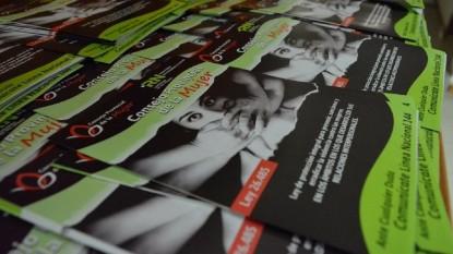 Consejo Provincial Mujer, folleteria