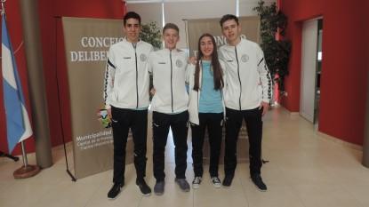 viedma, Concejo Deliberante, reconocimiento, handball, Santino Esposito, Tomás Garay, Tomás Sanz, Jorge Felix Entraigas