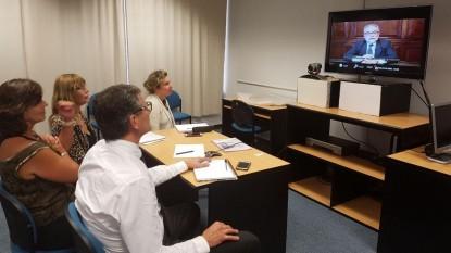 Videoconferencia capacitación género