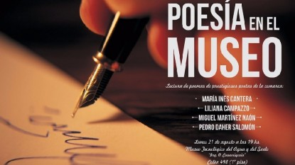 poesía en el museo