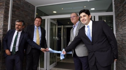 Weretilneck, autoridades banco patagonia