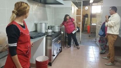 escuela, cocina