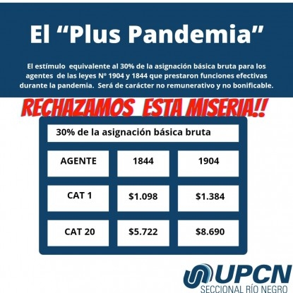 upcn, plus pandemia