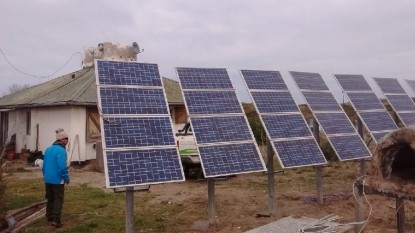 pozo salado, paneles solares