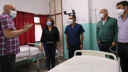 arabela carreras, luis fabian zgaib, Gastón Pérez Estevan, hospital, bariloche, Coronavirus