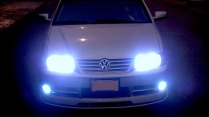 auto, luces