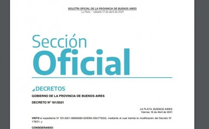 decreto, PROVINCIA DE BUENOS AIRES