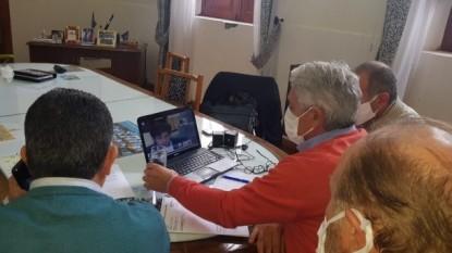 JOSE LUIS ZARA, axel kicillof, videoconferencia