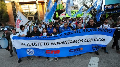 viedma, movilizacion, frente sindical