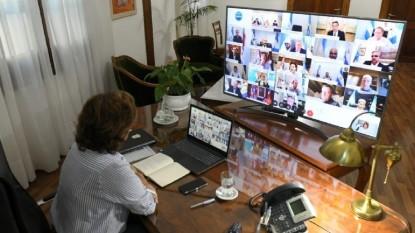 arabela carreras, gobernadores, videoconferencia