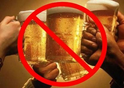 alcohol, bebidas, prohibido
