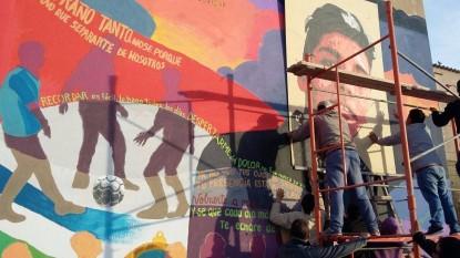 Emilio Collueque, mural