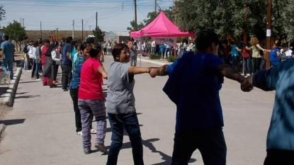 sierra colorada, hospital, abrazo, PROTESTA