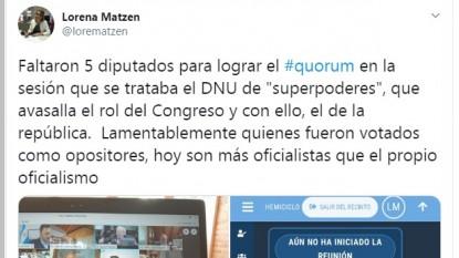 lorena matzen, twitter