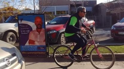 mario sabbatella, campaña, bicicleta