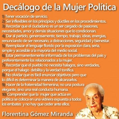 decalogo, mujer politica