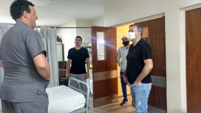 rodolfo aguiar, hospital, barbijo, Coronavirus