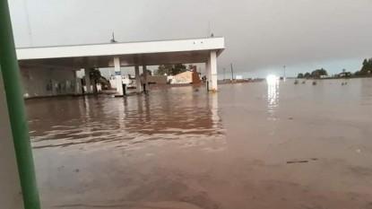 sierra grande, inundacion, desagües pluviales