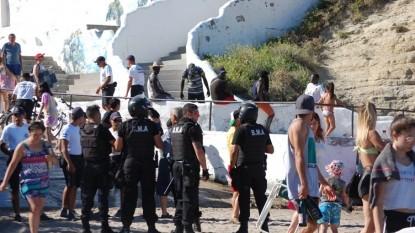 Las Grutas, policia, SENEGALESES